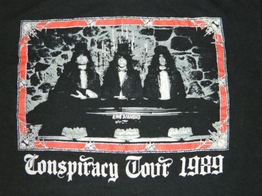 Vintage KING DIAMOND 1989 Conspiracy Tour T-shirt Large
