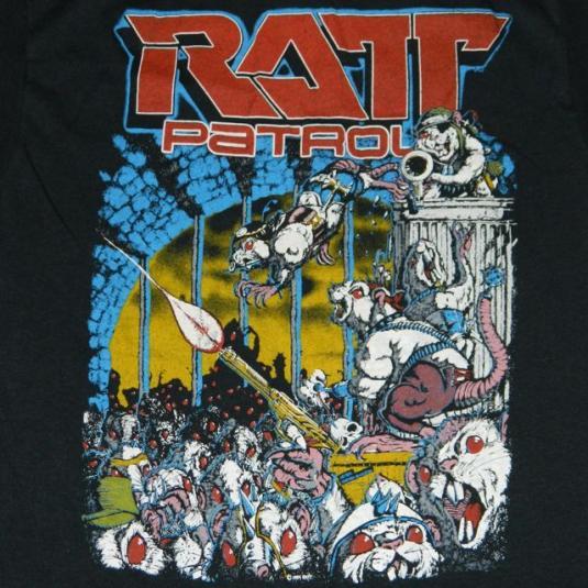 vintage RATT 1984 OUT OF THE CELLAR T0UR T-Shirt 80s Patrol