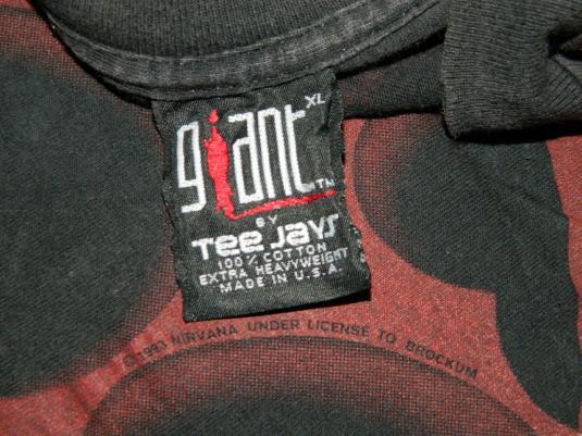 Vintage NIRVANA 1993 HEART-SHAPED BOX GIANT Tee Jays T-Shirt