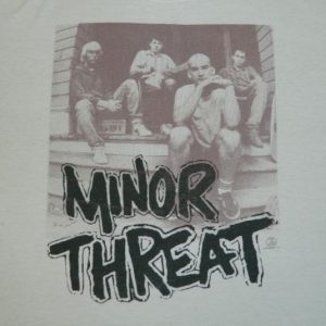 Vintage MINOR THREAT ZED RECORDS 80S T-Shirt