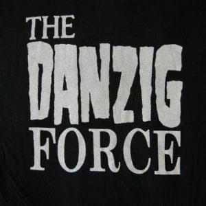 Vintage THE DANZIG FORCE FAN CLUB 1988 T-SHIRT 80S