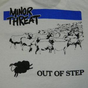 Vintage MINOR THREAT 80S OUT OF STEP T-Shirt sxe punk