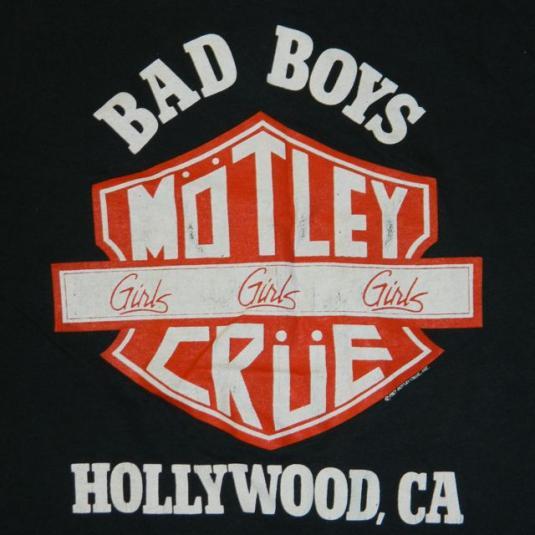 Vintage MOTLEY CRUE 1987 Bad Boys Hollywood, CA Tour T-Shirt