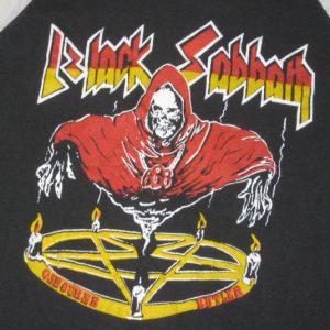 vintage BLACK SABBATH 70S TOUR JERSEY T-Shirt concert ozzy