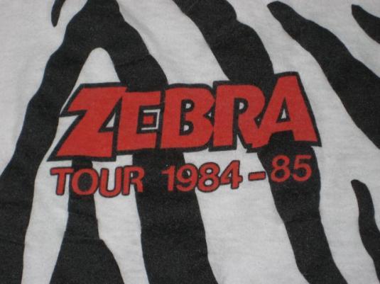 vintage ZEBRA 1984-85 TOUR T-Shirt 80s concert