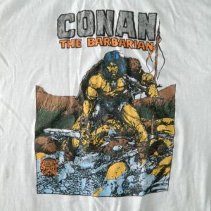 Vintage CONAN THE BARBARIAN MARVEL COMICS 80S T-SHIRT