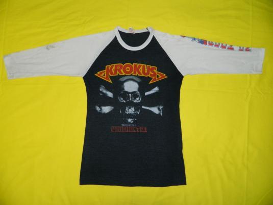 Vintage KROKUS HEADHUNTER 1983 JERSEY T-Shirt tour 80s
