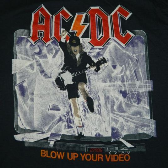 Vintage AC/DC 1988 Blow Up Your Video Tour T-Shirt