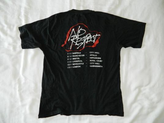 Vintage VAIN 1989 NO RESPECT UK TOUR T-Shirt