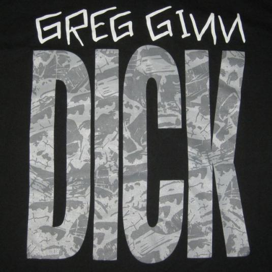vintage GREG GINN BLACK FLAG 1993 DICK TOUR T-Shirt punk xl