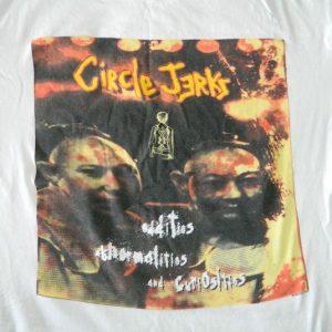 Vintage CIRCLE JERKS 1995 North American Tour T-shirt MINT!