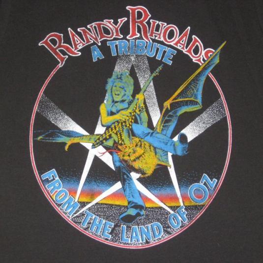 vintage RANDY RHOADS 80S T-Shirt Ozzy Osbourne Quiet Riot