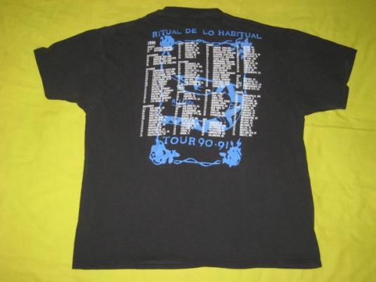 vintage JANE'S ADDICTION 1990 TOUR T-Shirt janes concert