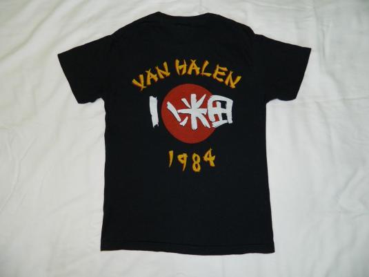Vintage VAN HALEN 1984 SAMURAI TOUR T-Shirt concert