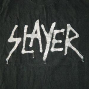 Vintage SLAYER UNDISPUTED ATTITUDE 1996 PROMO T-Shirt 90s