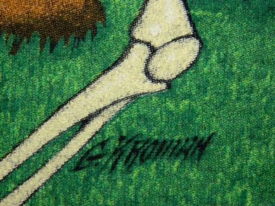 Vintage GRATEFUL DEAD LARGE G KROMAN ART 1991 T-Shirt 90s