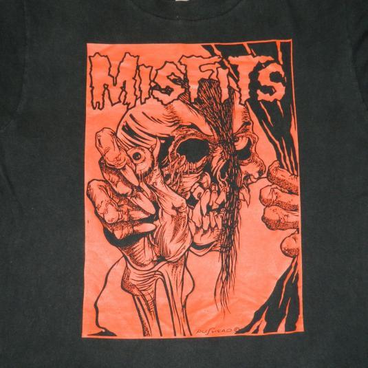 Vintage MISFITS 80s EVIL EYE PUSHEAD T-Shirt concert tour