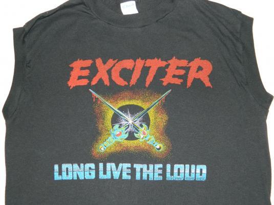 Vintage EXCITER 1985 LONG LIVE THE LOUD TOUR T-Shirt 80s