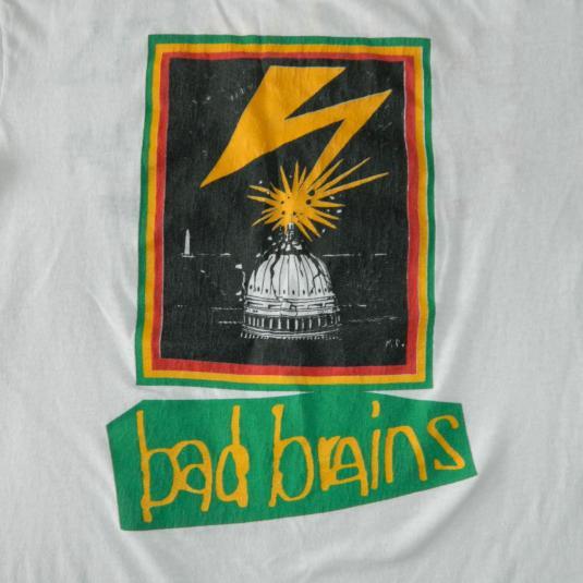 Vintage BAD BRAINS 1987 RETURN TO HEAVEN TOUR T-SHIRT 80s