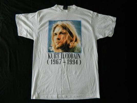 Vintage NOS KURT COBAIN 1995 T-SHIRT NIRVANA 90s