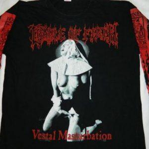 Vintage VESTAL MASTURBATION CRADLE OF FILTH L/S T-Shirt 90s