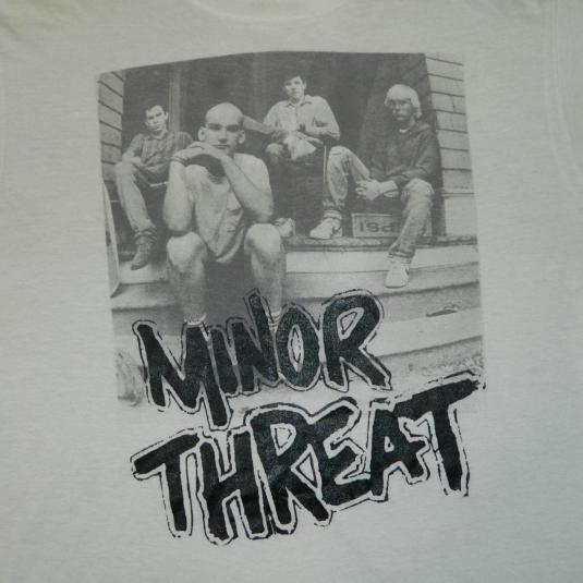 Vintage MINOR THREAT 80S SALAD DAYS T-SHIRT XL PUNK SXE