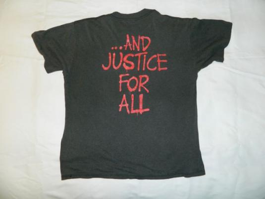 Vintage METALLICA 1988 and justice for all tour T-Shirt xl