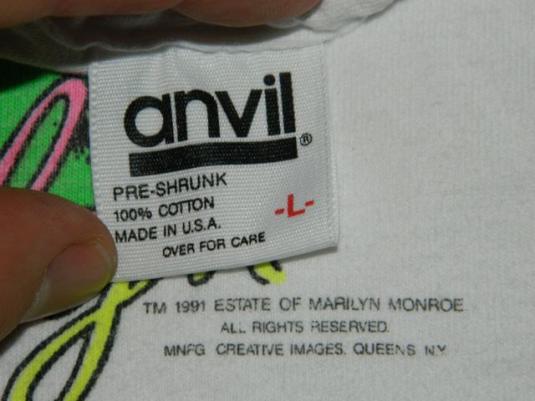 Vintage Marilyn Monroe Andy Warhol T-shirt