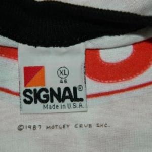 Vintage DEAD STOCK XL MOTLEY CRUE 1987 TOUR JERSEY T-Shirt