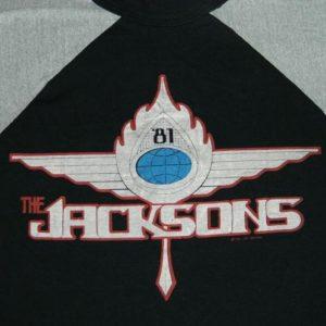 vintage THE JACKSONS 80S LOS ANGELES CONCERT T-Shirt MICHAEL