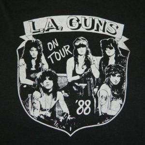 Vintage LA GUNS 1988 SHOW NO MERCY TOUR T-Shirt l.a. 80s