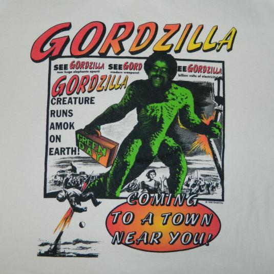 Vintage GREEN DAY WORKING CREW TOUR T-SHIRT GORDZILLA 90S