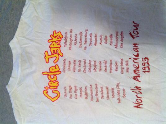 Vintage CIRCLE JERKS 1995 TOUR T -Shirt XL original concert