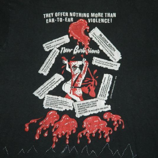 Vintage NEW BARBARIANS 1979 TOUR T-Shirt 70s concert