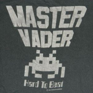 Vintage SPACE INVADERS 80s MASTER VADER T-Shirt video game