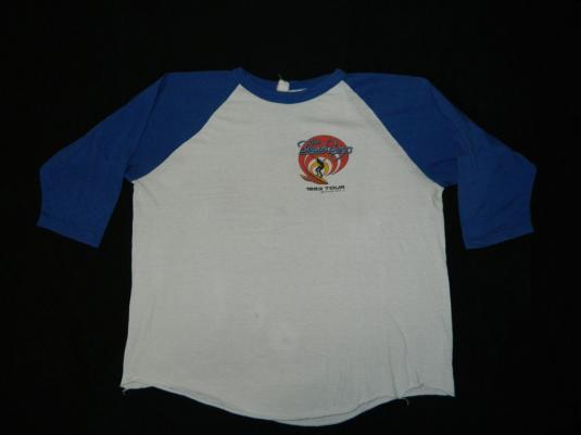 Vintage THE BEACH BOYS 1983 WORLD TOUR JERSEY t-shirt 80s