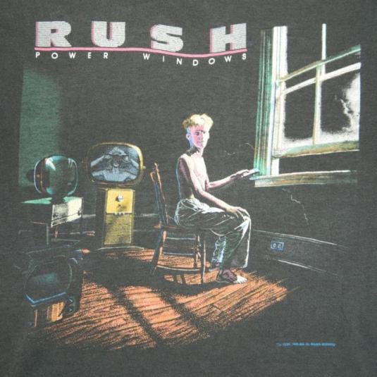 Vintage RUSH 1985 Power Windows Tour T-shirt