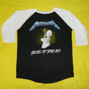 Vintage METALLICA 1985 METAL UP YOUR ASS JERSEY t-shirt XL