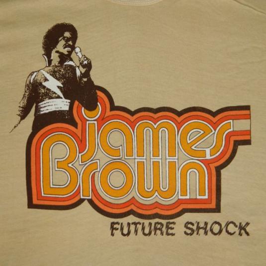 Vintage NOS 70S JAMES BROWN FUTURE SHOCK XL T-Shirt