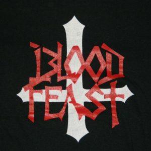 Vintage BLOOD FEAST 80S TOUR T-Shirt concert XL