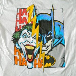Vintage BATMAN THE JOKER HAHAHA 1989 T-SHIRT DC COMICS