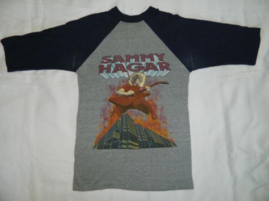 vintage SAMMY HAGAR 1983 TOUR T-Shirt jersey concert 80s