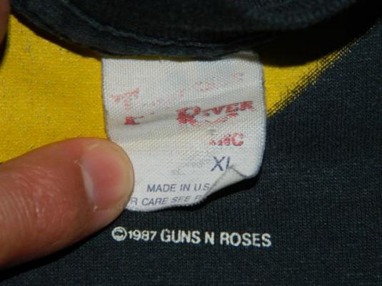 Vintage GUNS N ROSES WAS HERE 1987 Tour T-Shirt concert XL