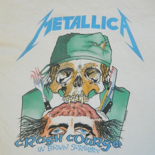 Vintage METALLICA 1987 Crash Course In Brain Surgery T-Shirt