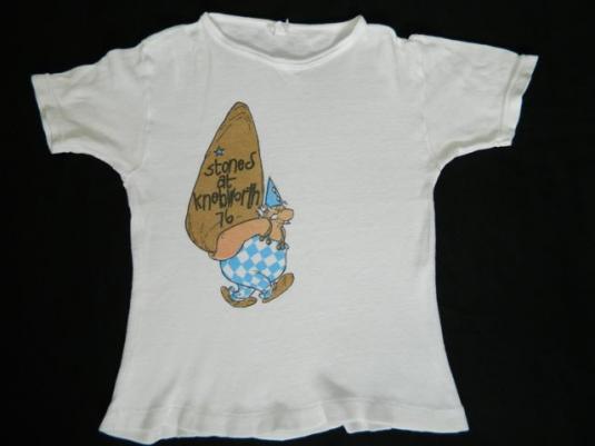 vintage ROLLING STONES KNEBWORTH 1976 TOUR T-Shirt concert