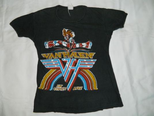vintage VAN HALEN 1980 T0UR T-Shirt David Lee Roth 80s