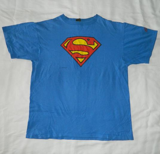 Vintage SUPERMAN XL 80S T-SHIRT GRAPHITTI DC COMICS