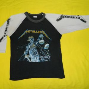 Vintage METALLICA 80S AND JUSTICE FOR ALL JERSEY t-shirt
