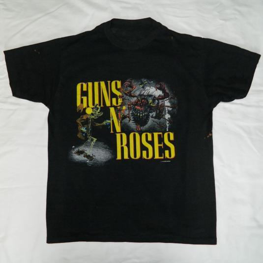 Vintage GUNS N ROSES 1987 BANNED CONCERT T-SHIRT XL tour 80s