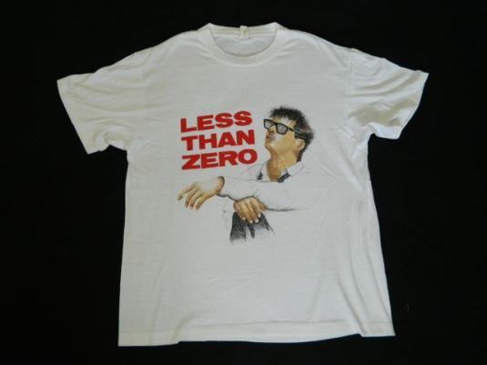 vintage LESS THAN ZERO 80S T-Shirt movie robert downey jr